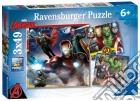 Ravensburger 08017 - Puzzle 3x49 Pz - Avengers