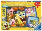 Ravensburger 09384 - Puzzle 3x49 Pz - Spongebob - Amici In Ammollo