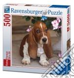 Puzzle 500 Pz Quadrati - Cucciolo Di Bassethound puzzle di RAVENSBURGER