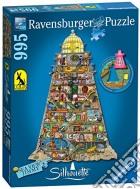 Ravensburger 16098 - Puzzle Silhouette Sagomato 1000 Pz - Colin Thompson - Vita Nel Faro