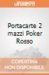 Portacarte 2 mazzi Poker Rosso