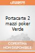 Portacarte 2 mazzi poker Verde  giochi