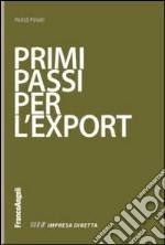 Primi passi per l'export