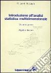 Introduzione all'analisi statistica multidimensionale. Vol. 1: Algebra lineare libro