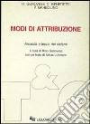 Modi di attribuzione. Filosofia e teoria dei sistemi libro