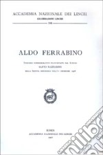 Aldo Ferrabino libro di Mazzarino Santo
