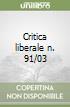 Critica liberale n. 91/03 libro