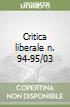 Critica liberale n. 94-95/03 libro