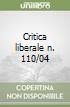Critica liberale n. 110/04 libro