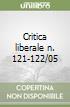 Critica liberale n. 121-122/05 libro
