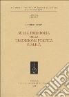Sulla preistoria della tradizione poetica italica libro