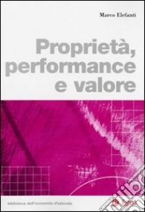 Proprietà, performance e valore libro di Elefanti Marco