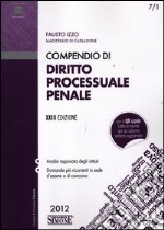 Compendio di diritto processuale penale libro di Izzo Fausto