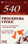 540 domande procedura civile libro