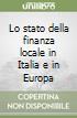 Lo stato della finanza locale in Italia e in Europa
