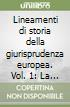 Lineamenti di storia della giurisprudenza europea. Vol. 1: La giurisprudenza romana e il passaggio dall'Antichità al Medioevo libro