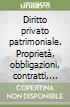 Diritto privato patrimoniale. Proprietà, obbligazioni, contratti, responsabilità, mercato libro