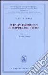 Percorsi ermeneutici di filosofia del diritto. Vol. 1 libro
