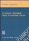 Il sistema «instabile» delle autonomie locali libro