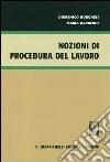 Nozioni di procedura del lavoro libro