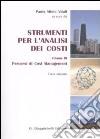 Strumenti per l'analisi dei costi (3) libro