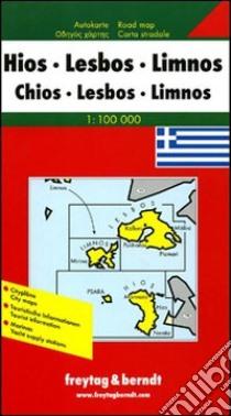 Chio, Lesbo, Lemno 1:100.000. Carta stradale. Ediz. multilingue libro