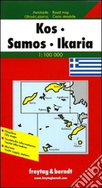 Kos, Samos, Ikaria 1:100.000 libro