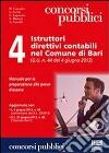 4 istruttori direttivi contabili nel comune di Bari libro