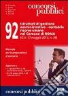 92 istruttori di gestione amministrativo-contabile risorse umane nel comune di Roma libro