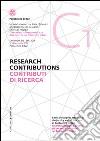 Contributi di ricerca. Ediz. italiana e inglese. Vol. 1