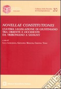 Novellae constitutiones libro