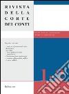 Rivista della Corte dei Conti (2016) vol. 1-2 libro