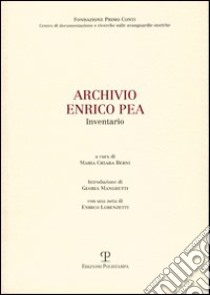 Archivio Enrico Pea. Inventario libro