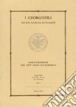 I Georgofili. Atti della Accademia dei Georgofili (10/1) libro
