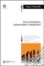 Evoluzionismo, darwinismo e marxismo libro