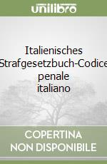 Italienisches Strafgesetzbuch-Codice penale italiano libro di Riz Roland