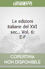 Le edizioni italiane del XVI sec. (6) libro