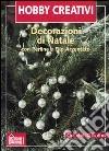 Decorazioni di Natale. Con perline e filo d'argento