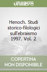Henoch. Studi storico-filologici sull'ebraismo 1997 (2) libro