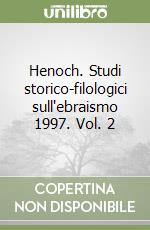 Henoch. Studi storico-filologici sull'ebraismo 1997 (2) libro