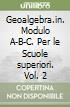 Geoalgebra.in. Modulo A-B-C. Per le Scuole superiori libro