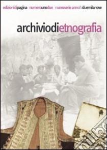 Archivio di etnografia (2009) vol. 1-2 libro