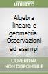 Algebra lineare e geometria. Osservazioni ed esempi