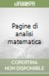 Pagine di analisi matematica libro