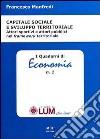 Capitale sociale e sviluppo territoriale. Attori sportivi e attori pubblici nel framework territoriale