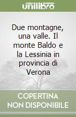 Due montagne, una valle. Il monte Baldo e la Lessinia in provincia di Verona libro di Valdinoci Oreste - Voltan Micaela