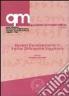 Recent developments in partial differential libro