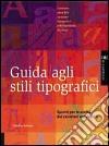 Guida agli stili tipografici libro