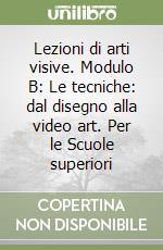 Lezioni di arti visive. Modulo B: Le tecniche: dal disegno alla video art. Per le Scuole superiori libro di Montagnani M. Alessandra