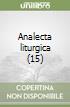 Analecta liturgica (15) libro